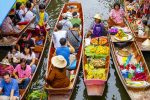 Thailand - Kleurrijk Damnoen Saduak - Drijvende Markt en River Kwai Tour