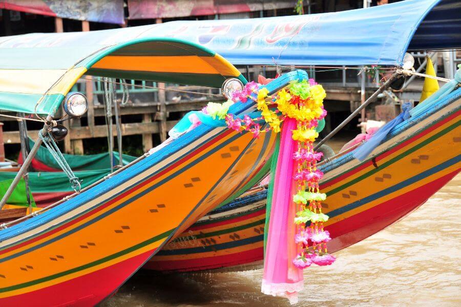 Thailand - Longtailboot varen rivier - Grand Palace, tempels en kanalentocht