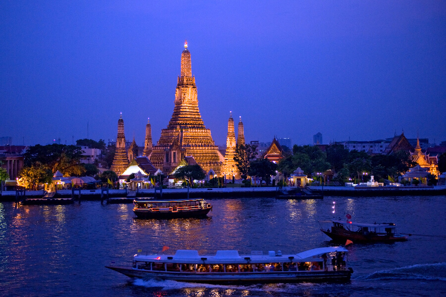 Thailand - Wat Arun nacht - Dinner Cruise Bangkok By Night
